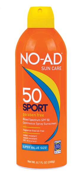 NO-AD SPORT SPRAY SPF 50 - 8.6 Net Wt.