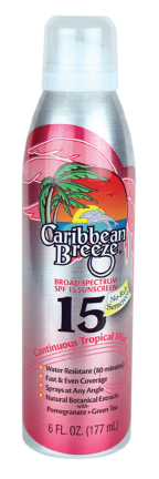 CARIBBEAN BREEZE GEN PROT SPRAY SPF 15 - 5.5 Net Wt