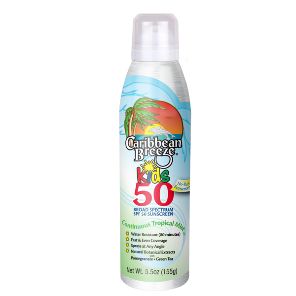 CARIBBEAN BREEZE KIDS SPRAY SPF 50 - KIDS - 5.5 Net Wt.