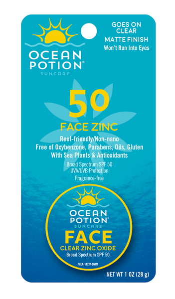 OCEAN POTION FACE POTION CLEAR ZINC SPF 50 - 1oz